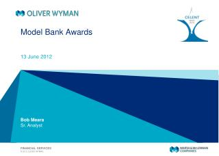 Model Bank Awards