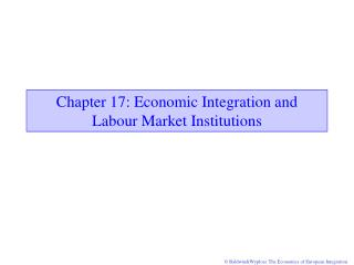 Chapter 1 7 : Economic Integration and  Labour Market Institutions
