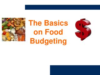 The Basics on Food Budgeting