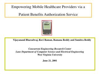 Empowering Mobile Healthcare Providers via a  Patient Benefits Authorization Service