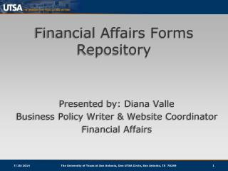 Financial Affairs Forms Repository