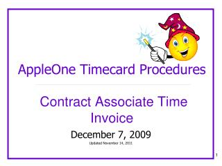 AppleOne Timecard Procedures Contract Associate Time Invoice