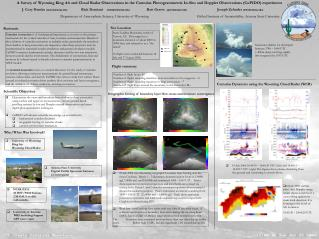 A Survey of Wyoming King Air and Cloud Radar Observations in the Cumulus Photogrammetric In-Situ and Doppler Observation