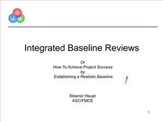 Integrated Baseline Reviews