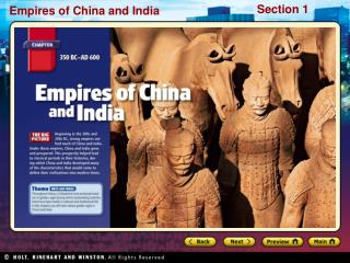 Preview Starting Points Map: China and India Main Idea / Reading Focus  The Qin Dynasty The Han Dynasty Map: Qin and Han