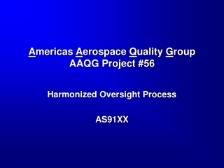 International Aerospace Quality Group IAQG