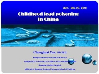 Childhood lead poisoning   in China