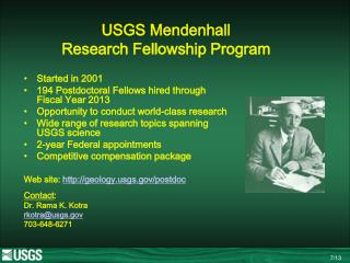 USGS Mendenhall   Research Fellowship Program