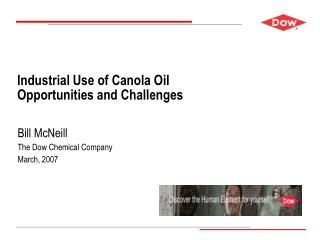 Industrial Use of Canola Oil Opportunities and Challenges