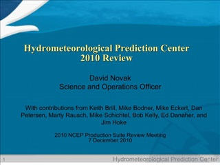 Hydrometeorological Prediction Center  2010 Review