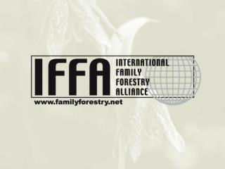 Family forestry- facts and figures 25 % of the world's population depends on forests Family forestry plays a significant