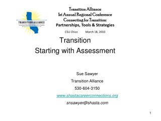 Transition Starting with Assessment