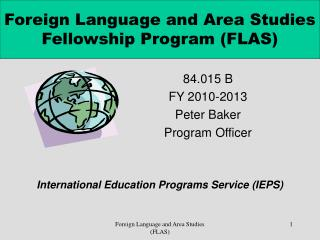 Foreign Language and Area Studies Fellowship Program (FLAS)
