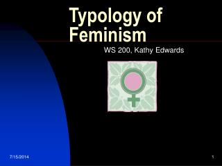 Typology of Feminism