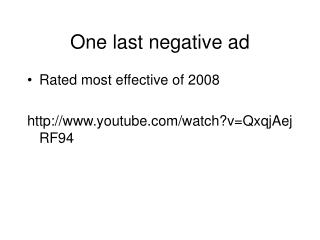 One last negative ad