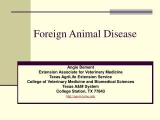 Foreign Animal Disease
