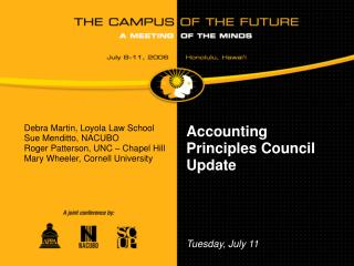 Accounting Principles Council Update