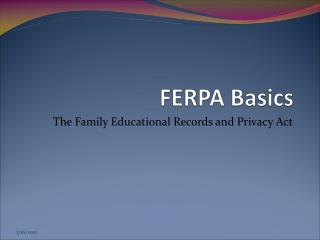 FERPA Basics