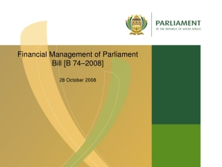 PARLIAMENTARY FINANCIAL CONTROL
