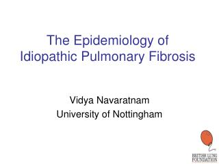 The Epidemiology of Idiopathic Pulmonary Fibrosis