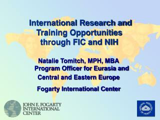 International Research and Training Opportunities through FIC and NIH
