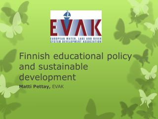 Finnish educational policy and sustainable development