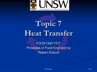 Topic 7 Heat Transfer