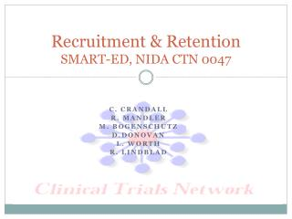 Recruitment & Retention SMART-ED,  NIDA  CTN 0047