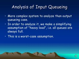 Analysis of Input Queueing