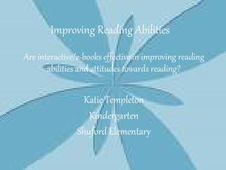 Improving Reading Abilities