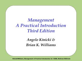 Management  A Practical Introduction Third Edition