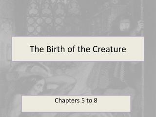 The Birth of the Creature
