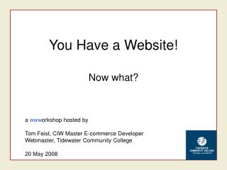 You Have a Website!