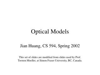 Optical Models