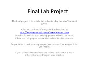 Final Lab Project