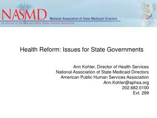 Health Reform: Issues for State Governments