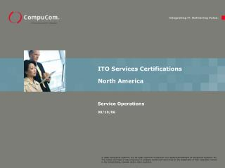 ITO Services Certifications North America