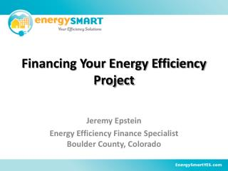 Financing Your Energy Efficiency Project
