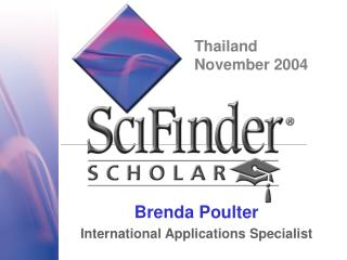 Brenda Poulter International Applications Specialist