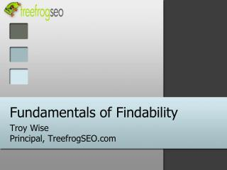 Fundamentals of Findability