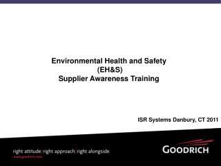 Environmental Health and Safety  (EH&S)  Supplier Awareness Training