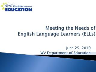 Meeting the Needs of   English Language Learners (ELLs)