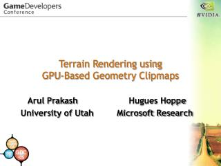 Terrain Rendering using GPU-Based Geometry Clipmaps