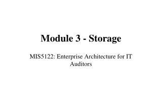 Module 3 - Storage