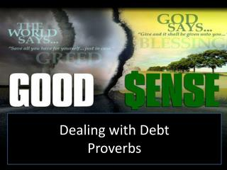 Dealing with Debt Proverbs