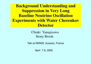 Background Understanding and Suppression in Very Long Baseline Neutrino Oscillation  Experiments with Water Cherenkov De
