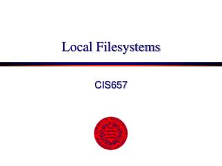 Local Filesystems