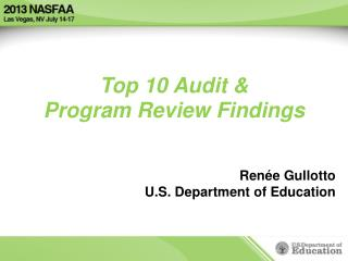 Top 10 Audit & Program Review Findings