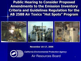 Public Hearing to Consider Proposed Amendments to the Emission Inventory Criteria and Guidelines Regulation for the AB 2
