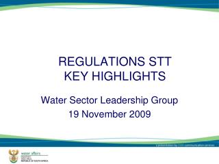 REGULATIONS STT KEY HIGHLIGHTS